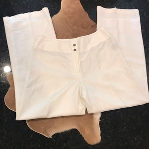 East 5th White Lined Linen Pants 12 NWOT